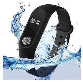 TSV M3 Smart Activity Fitness Tracker Band  Alarm Clock Incoming Call Feature Heart Rate Monitoring Black