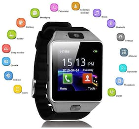TSV Samsung Galaxy J7 4G Mi Compatible Bluetooth DZ09 Smart Watch Wrist Watch Phone with Camera & SIM Card Support