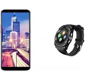 TSV  Smart Watch Mobile Smartwatch Inbuild Camera Suppoting 3G/4G SIM for Phone Like Samsung, Xiaomi Mi, Oppo, ViVo, Moto, HTC, Lenovo