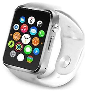 TSV Smartwatch_A1_ Bluetooth Smart Watch with Camera Suitable for All 3G, 4G Phones (White , Black Strap)
