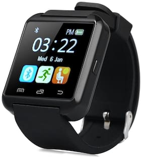 TSV U8 Watch Bluetooth Smart Wrist Watch Phone Compatible With Apple iPhone 7 (Black)