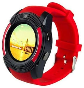 TSV  V8 Smart Notification Red  tooth Smartwatch Wrist watch  Design For Vivo Y83  Smartphon Red