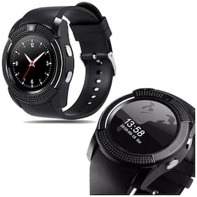 TSV V8 Sweatproof with Camera,Touch Screen, Bluetooth, Support SIM Card, SD Card Smartwatch (Black)