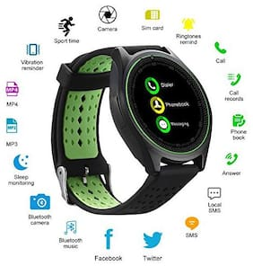 Tsv V9 Bluetooth Smart Watch With Sim Card Slot;Call;Message And Camera Support