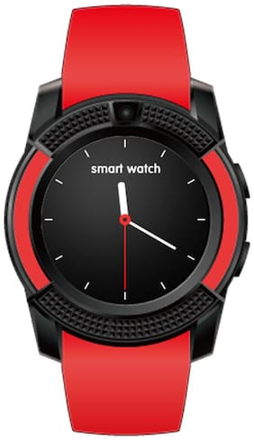 V8 Unisex's Explorist Touchscreen Smartwatch with Red  tooth Compatible with Apple/ Samsung/Vivo/Oppo/Motorola By TSV