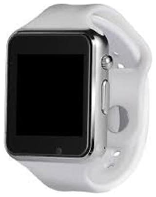 VB Trade A1 Smart Watch Bluetooth Smartwatch Compatible with All Mobile Phones for Boys and Girls (White)