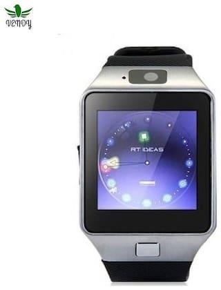 Vendy Watch Phone Support Camera TF Card Micro SD Card SIM Card Bluetooth  Smartwatch (Black Strap Free Size)