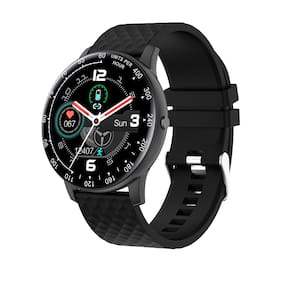 Vikyuvi Vikfit Gear True Round Smart Watch with Full Touch Control (Black)