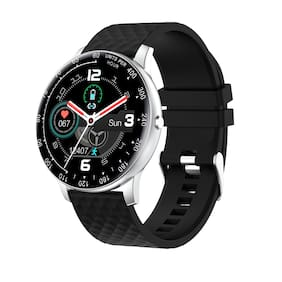 Vikyuvi Vikfit Gear True Round Smart Watch with Full Touch Control (SilverBlack)