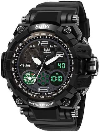 VILAM Analog-Digital Multi Function Black Dial Men Sports Watch