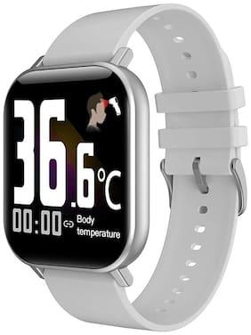 Voltmi Dr. Senor Smart Health Monitoring Watch Body Temperature and Blood Pressure Tracker Smart Watch (Silver)