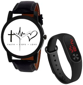 Wake Wood Analog Watch Graphics Collection with Free LED Watch Band