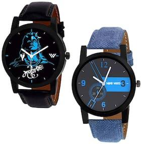 Wake Wood Analog Watches Combo of 2 Watches