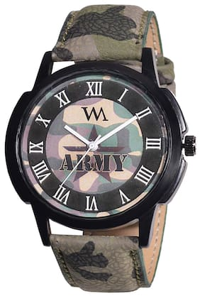 1c795789158ad Watch Me Army Green Analog Watch for Men and Boys