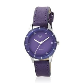 Watch Me Purple Dial Purple Leather Strap Watch for Girls WMAL-241