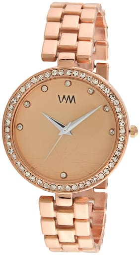 Watch Me Rose Gold Dial Rose Gold Stainless Steel Strap Watch for Women and Girls