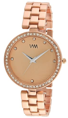 2599d453887 Watch Me Rose Gold Dial Rose Gold Stainless Steel Strap Watch for Women and  Girls