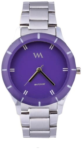 Watch Me Silver Analog Watch (Pack Of 5)