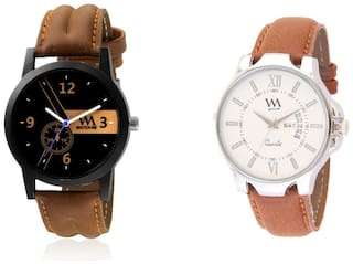 Watch Me Watches Analog Combo for Men and Boys REJG-WMC-001-AWC-018