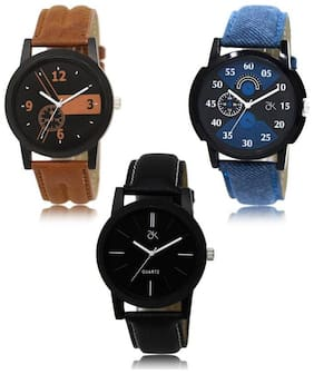 watchstar lorem 3 combo analog watches for boys