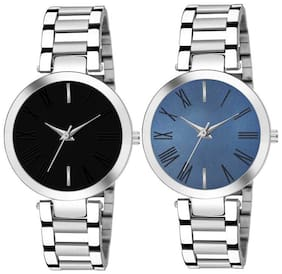 WATCHSTAR Women Stainless Steel Analog Watches Strap Color Is Silver Or Dial Color is Blue;Black