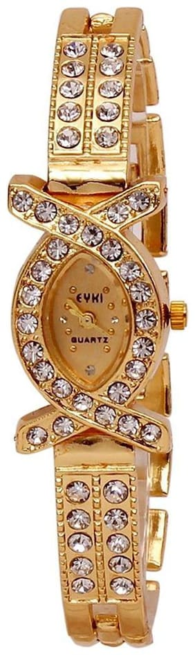 Women Aks Golden Analog Women Watches