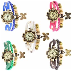 Women Braslate Analog Multi color Watches- combo of 5(Pack of 5)