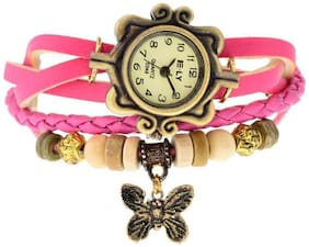 Women Butterfly Pink Braslate Analog Watches(Pack of 5)