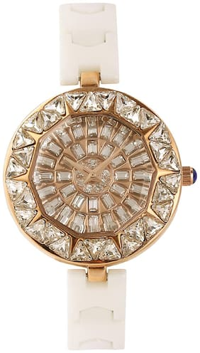Women Fashion Coper Dail Ceramic Diamonds Quartz Wrist Watches