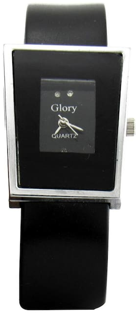 Women Glory Black analog rectangle dial Watches(Pack of 5)