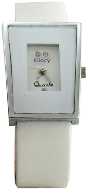 Women Glory White analog rectangle dial Watches(Pack of 5)
