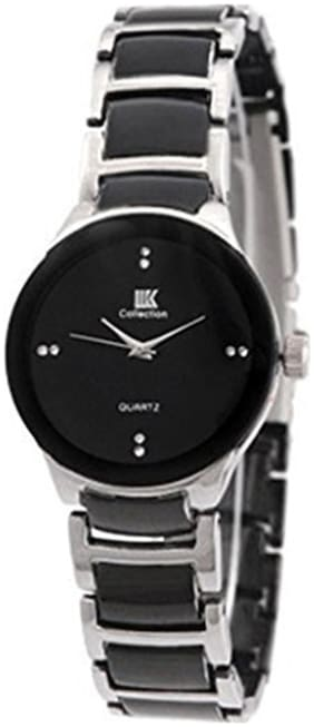 Women IIK Collection Silver_Black Analog Metal Watches