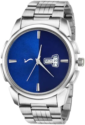 Wrightrack Exclusive Series Quartz Movement Stainless Steel Case Day & Date Blue Dial Analogue Men Watch (WTSM75)