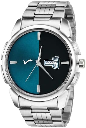 Wrightrack Exclusive Series Quartz Movement Stainless Steel Case Day & Date Blue Dial Analogue Men's Watch (WTSM71)