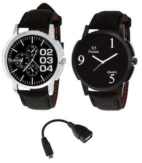X5 FUSION MEN'S WATCH B0234 CRONO AND B159 BK CASE FREE OTG Cable