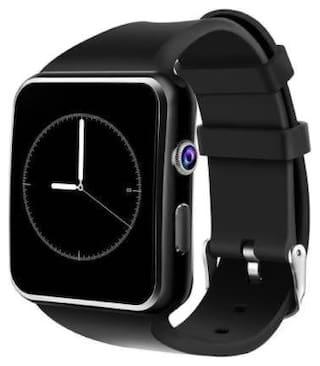 MECKWELL X6 Unisex 28 mm Black Smart Watch
