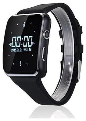 X6 Curved Display Screen Bluetooth Smart Watch Camera with Video Recording ,Micro SD card Support News, Sports, Health, Pedometer, Sedentary Remind & Sleep Monitoring for android / ios devices (Black)