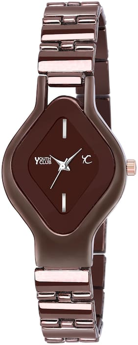 YOUTH CLUB BR-6109COF NEW ARRIVAL WITH ATTRACTIVE DIAMOND SHAPE DIAL ANALOG WATCH FOR GIRLS
