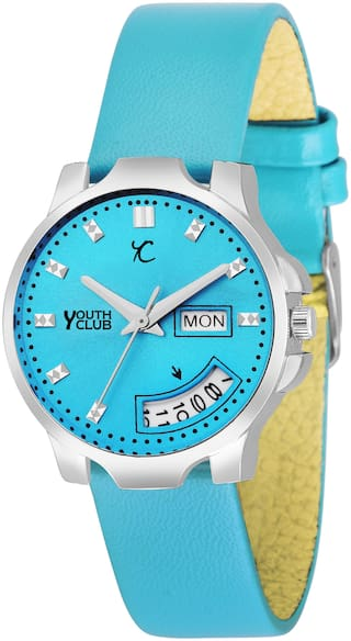 Youth Club LDD-009GRN New Sea Green Lady Day and Date Watch - For Girls