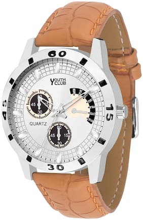 Youth Club YCS-27TAN NEW CHRONO PATTERN ANALOG DIAL Watch - For Boys