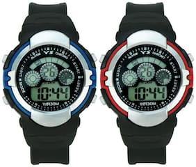 YS Smart Combo of Digital Watch-rg309 With PU Strap for - Boy's & Kid's