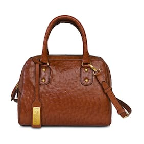 Sophia Visconti Brown Handbag & Get 1 Designer Scarf  Free (Assorted)
