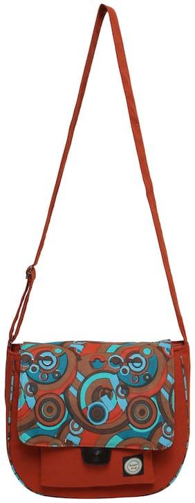 Anekaant Tan Canvas Handheld Bag