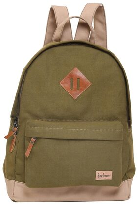 Anekaant Basic Green Canvas Backpack