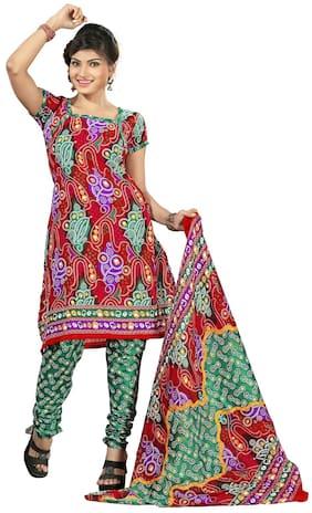 Silkbazar Daily Wear Multi Art Crepe Printed Dress Material