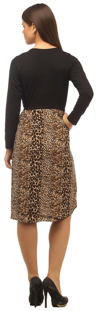 Printed Low Cottinfab Brown High M Dress Size Women's EITTwqF