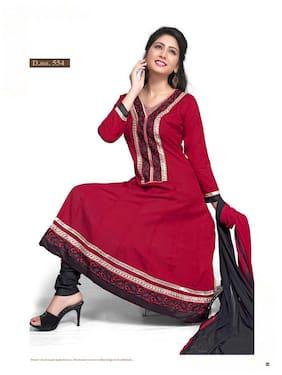 Silkbazar Awesome Embrodried Maroon Anarkali Dress Material