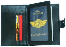 Essart Black Pu Passport Holder