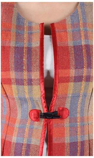 Check Waistcoat Owncraft M Orange Size 91eKp6