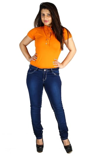 Fashion Cult Slim Fit Women's Lycra Denim Jeans (Size-28)